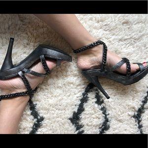 BCBG Pewter Heels Size 9.5